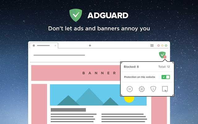 Adguard là trình chặn quảng cáo hiệu quả, bạn download về và sử dụng nhé.
