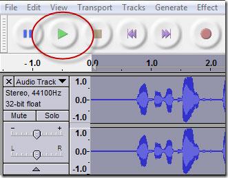 Thu âm trực tiếp là tính năng nổi trội của phần mềm audacity