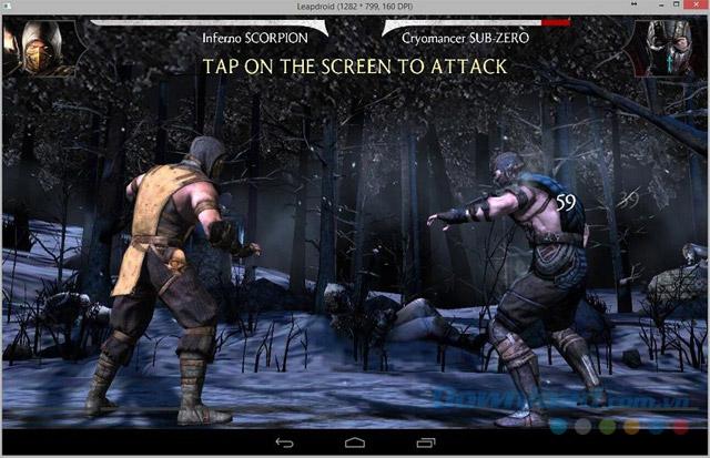 Sử dụng trình giả lập LeapDroid để chơi game đối kháng Android trên máy tính