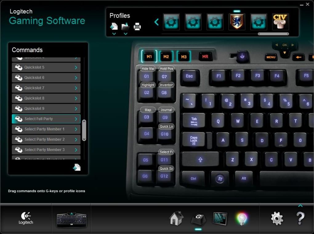 Thiết lập bàn phím với Logitech Gaming Software
