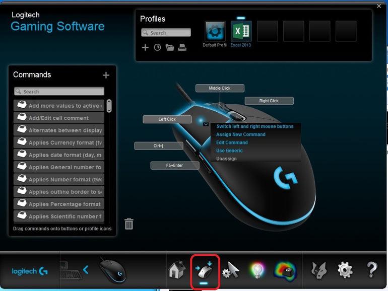 Các bước sử dụng phần mềm Logitech Gaming Software để thiết lập chuột