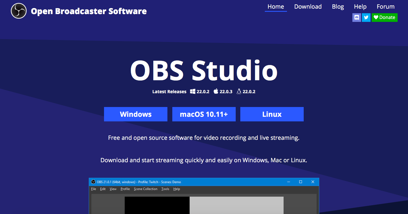 Obs studio hỗ trợ trên nhiều hệ điều hành khác nhau