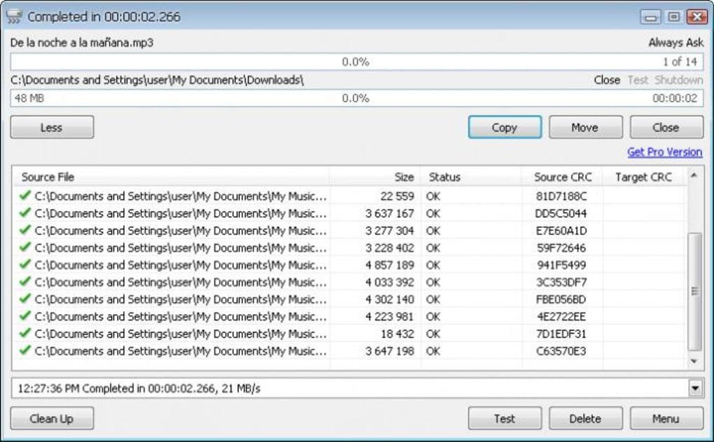 Tính năng của phần mềm sao chep dữ liệu nhanh teracopy