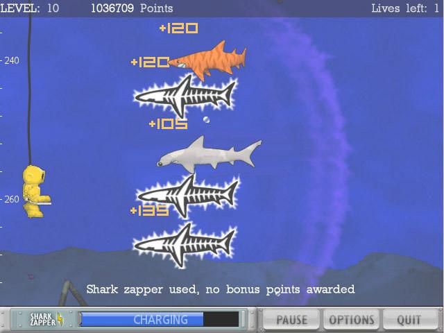 GameTyper Shark Deluxe thuộc dạng game tập gõ bàn phím, phù hợp với mọi lứa tuổi