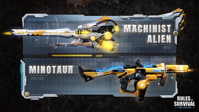 Kho vũ khí mới trong game Rules Of Survival