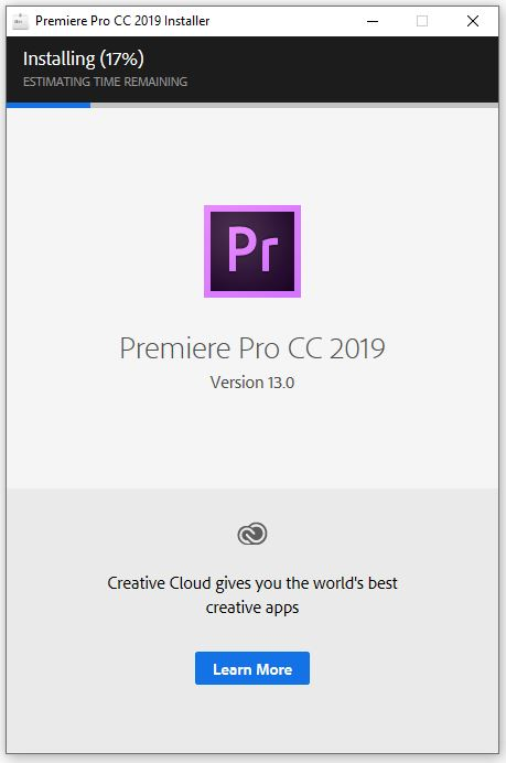 Cài đặt phần mềm Adobe Premiere Pro CC 2019