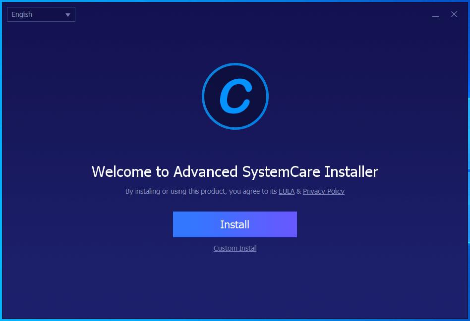 Nhấn nút Install để cài đặt advanced systemcare