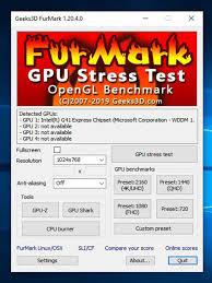 Tải Furmark - Phần mềm kiểm tra ổ cứng