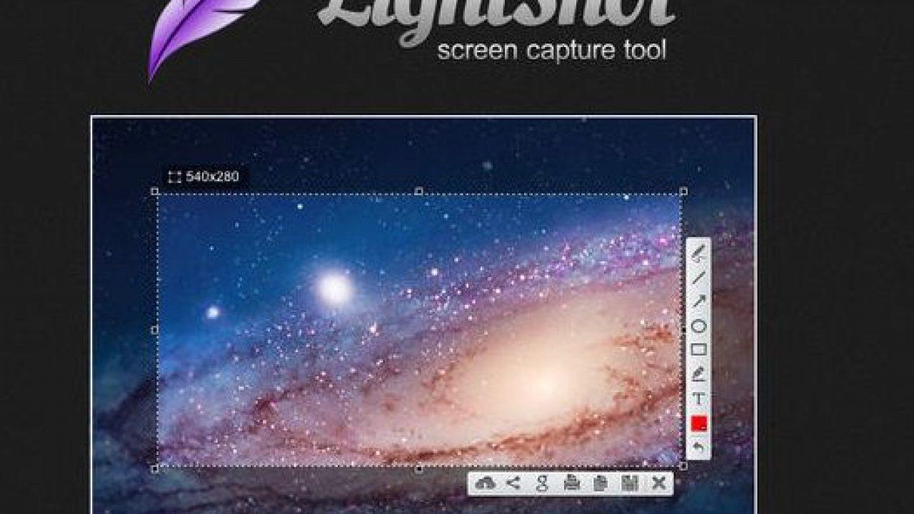 Giao diện của LightShot khi chụp ảnh màn hình
