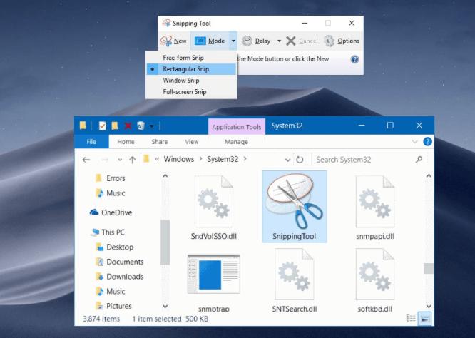 Download phần mềm snipping tool về sử dụng nhé