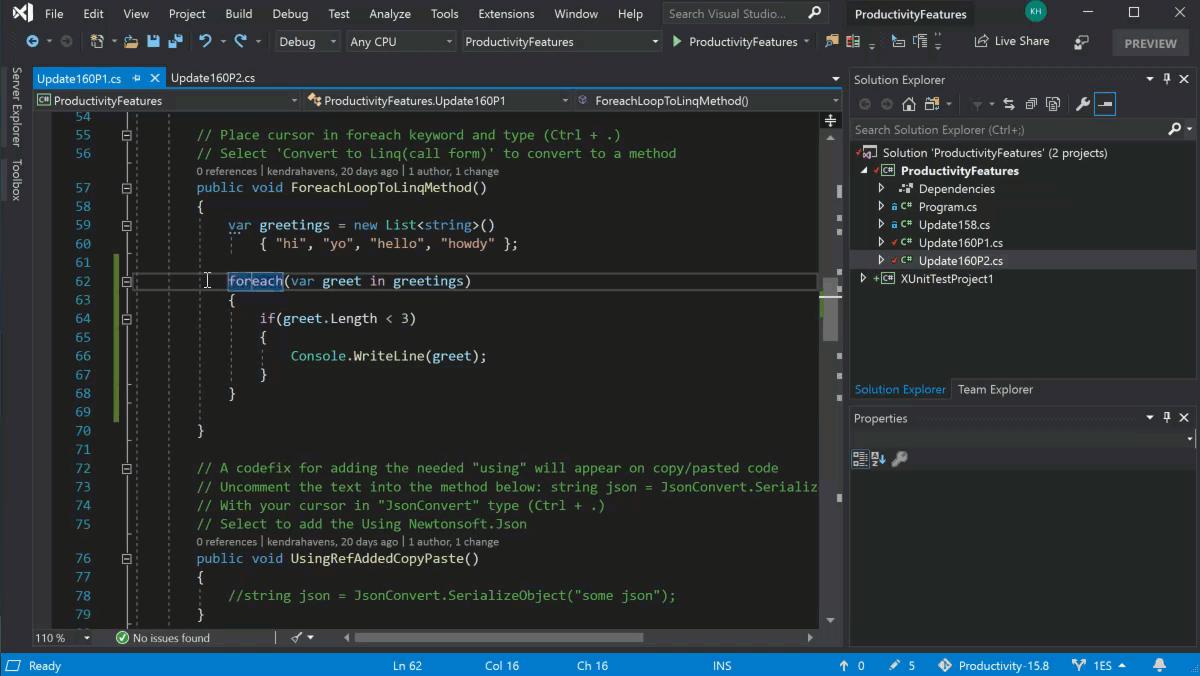 Sử dụng Visual Studio 2019 dễ dàng hơn trong quá trình lập trình