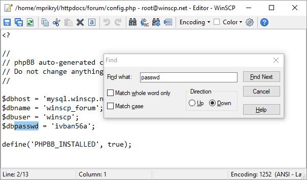 Đăng nhập vào phần mềm FTP client WinSCP