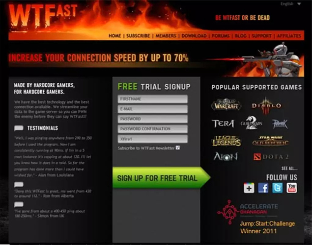 Download WTFast phần mềm hỗ trợ choi game khi bị lag hay ping
