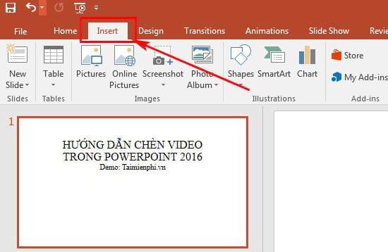Chèn video trong bài thuyết trình dễ dàng hơn với powerpoint 2016