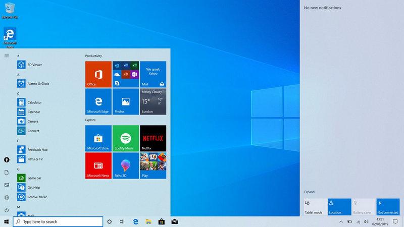 WIn 10 1903 với nhiều tính năng mới, cập nhập từ windows 10 lên