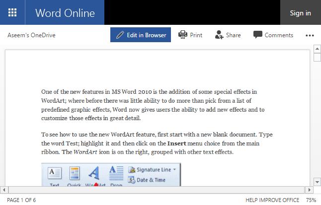 Cách sử dụng word online để soạn thảo văn bản